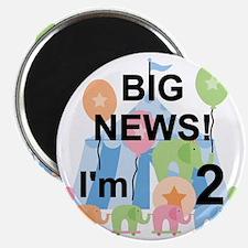 Big News Circus 2nd Birthday Magnet