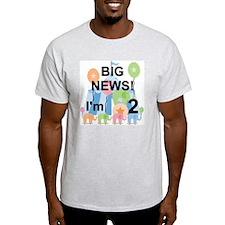 Big News Circus 2nd Birthday T-Shirt