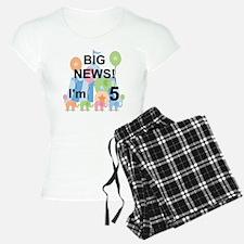 Big News Circus 5th Birthda Pajamas