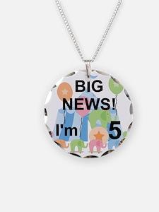Big News Circus 5th Birthday Necklace