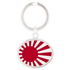 Rising Sun Flag Naval_Ensign_of_Japa Oval Keychain