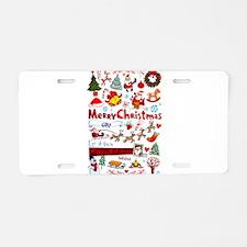 Christmas Aluminum License Plate