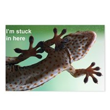 Gecko sticker Postcards (Package of 8)