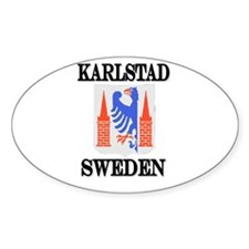 The Karlstad Store Oval Stickers