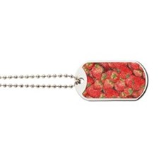 Strawberries-horizontal-C Dog Tags