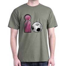 I play Soccer - Pink T-Shirt
