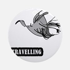 bird_travelling Round Ornament