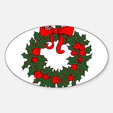 Christmas Wreath Decal