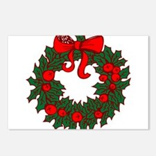 Christmas Wreath Postcards (Package of 8)
