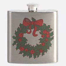 Christmas Wreath Flask