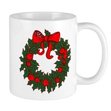 Christmas Wreath Mugs