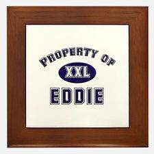Property of eddie Framed Tile