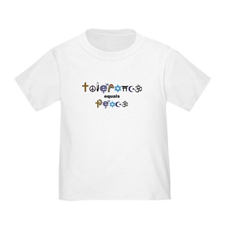 Tolerance = Peace Toddler T-Shirt