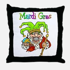 Crazy Jester Throw Pillow