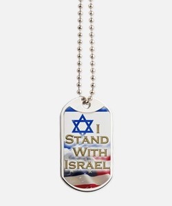 I stand with Israel 001 Dog Tags