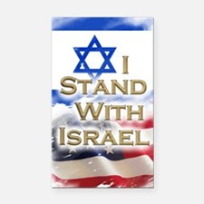 I stand with Israel 001 Rectangle Car Magnet