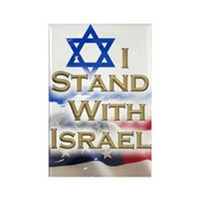 I stand with Israel 001 Rectangle Magnet