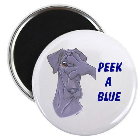 """N Peek a blue 2.25"""" Magnet (10 pack)"""