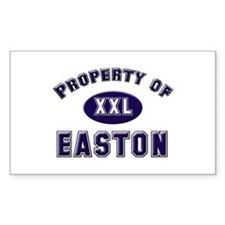 Property of easton Rectangle Decal