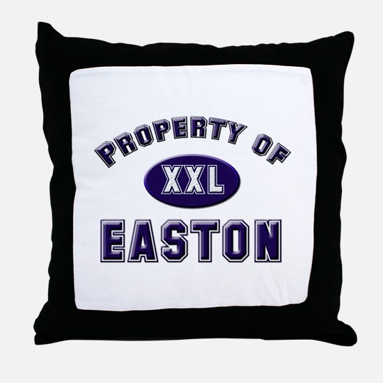 Property of easton Throw Pillow
