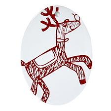 Reindeer Ornament (Oval)