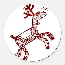 Reindeer Round Car Magnet