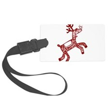 Reindeer Luggage Tag