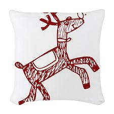 Reindeer Woven Throw Pillow