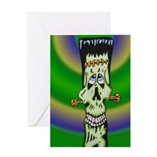 frankybackground Greeting Card