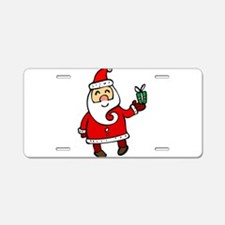 Santa Aluminum License Plate