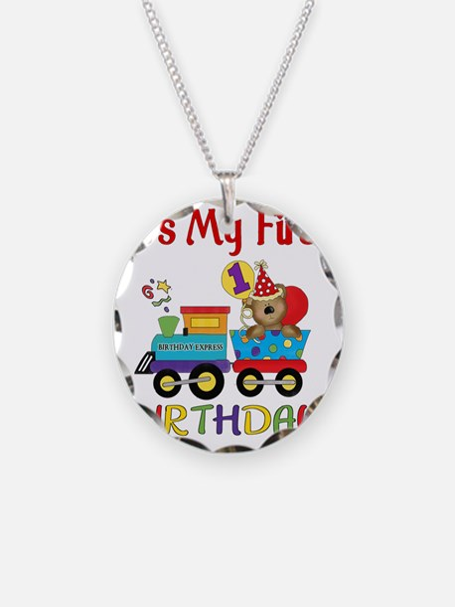 first birthday train Necklace