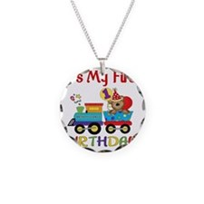 first birthday train Necklace Circle Charm