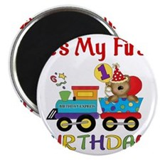 first birthday train Magnet