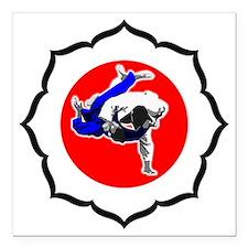 """Judo_image 09-01 Square Car Magnet 3"""" x 3"""""""
