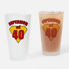 Supermom40 Drinking Glass