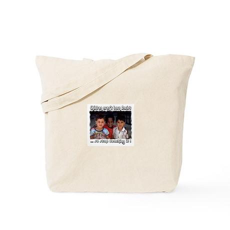 Stop teaching racism Tote Bag
