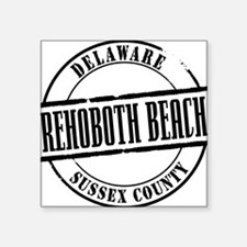 "Rehoboth Beach Title W Square Sticker 3"" x 3"""