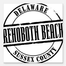 "Rehoboth Beach Title W Square Car Magnet 3"" x 3"""