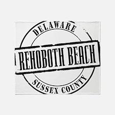 Rehoboth Beach Title W Throw Blanket