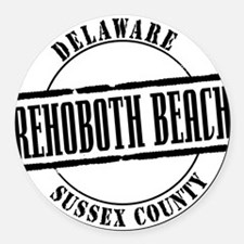 Rehoboth Beach Title W Round Car Magnet
