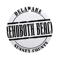 Rehoboth Beach Title W Round Ornament