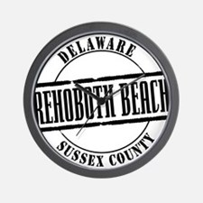 Rehoboth Beach Title W Wall Clock
