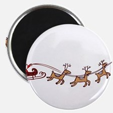 Santa in his Sleigh Magnets