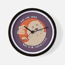Labradoodle CIRCLE bleed Wall Clock