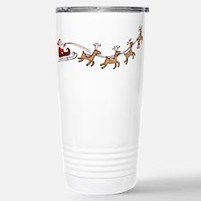 Santa in his Sleigh Travel Mug