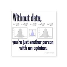 """withoutdata_shirt Square Sticker 3"""" x 3"""""""