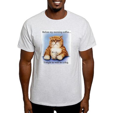 Morning Coffee Ash Grey T-Shirt