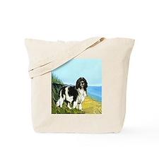 landseer on the beach Tote Bag
