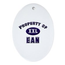 Property of ean Oval Ornament