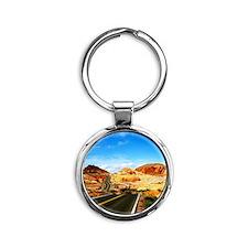 Valley of Fire Round Keychain